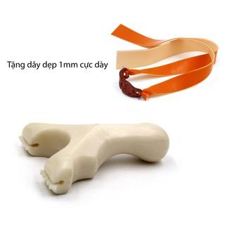 (Chạc 8.5) Ná cao su dây dẹp – có thước ngắm mẫu dây gài giá rẻ mẫu #31 (Màu trắng ngà voi cực đẹp)