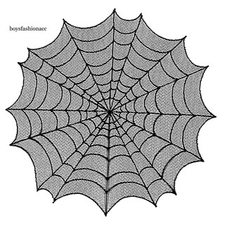 Khăn trải bàn hình mạng nhện trang trí tiệc halloween - hình 1
