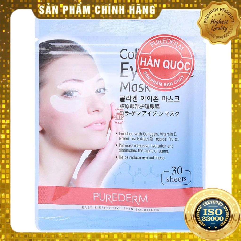 [ Yams Mart ] Mặt Nạ Mắt Collagen Purederm 30 Miếng/ Gói-