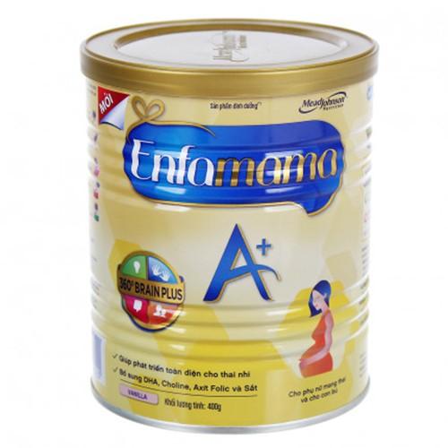 Sữa bột Enfamama A+ 400g vị vani/chocolate