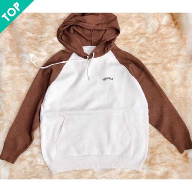 [CỰC HOT] -  Hot Áo len phối mũ thời trang ALNL
