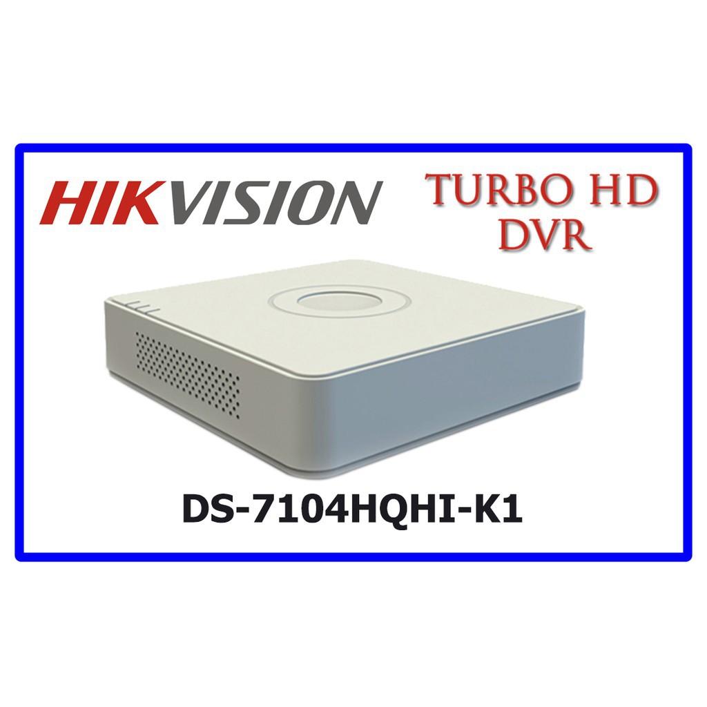 Đầu ghi hình HD-TVI 4 kênh TURBO 4.0 HIKVISION DS-7104HQHI-K1