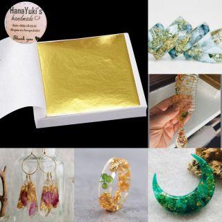 [Mã TOY5 giảm 10% đơn 50K] Set 10 tờ Gold sequins – giấy dát vàng dùng trong trang trí sáng tạo Resin, nails ..