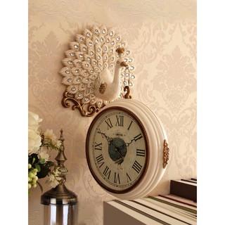 Đồng hồ treo tường 2 mặt CAO CẤP chim Khổng Tước