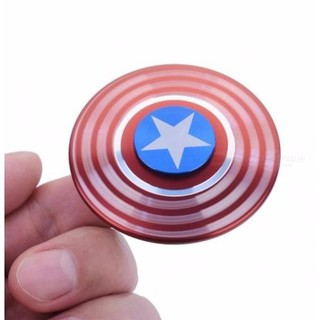 Spinner Captain America – Biểu tượng tấm khiên sắt- Con quay Captain America kim loại cực chất giúp giảm căng thẳng