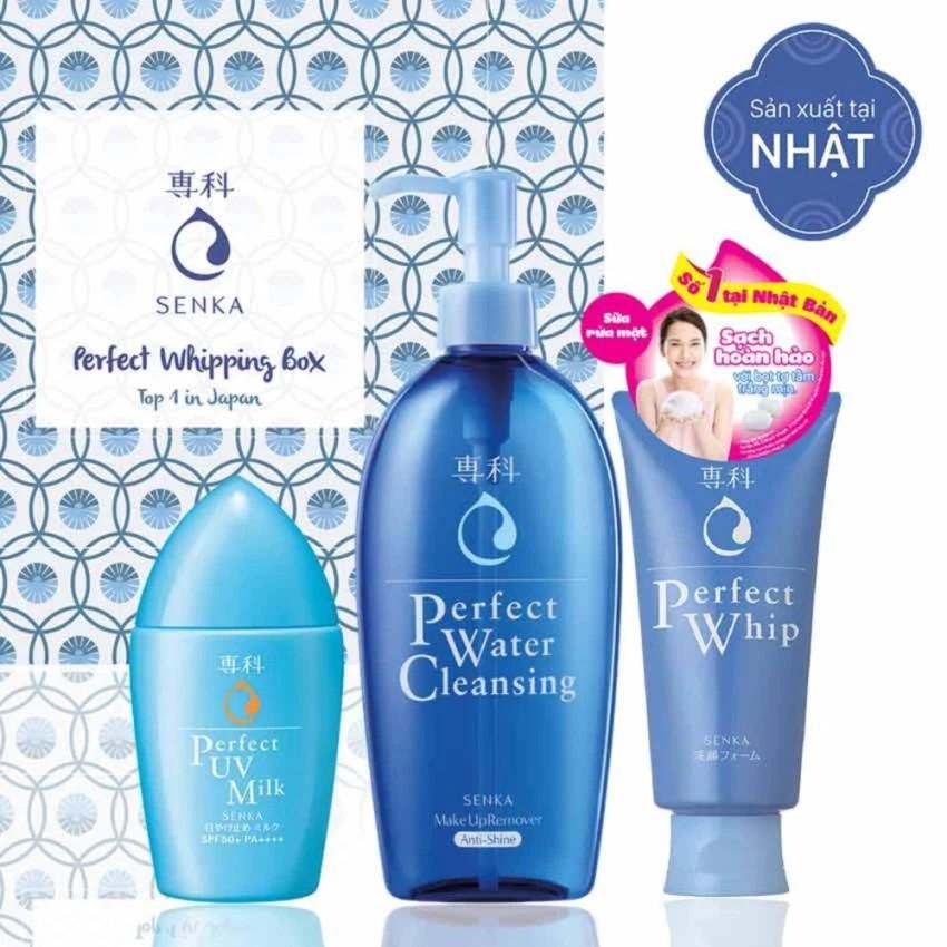 Bộ sản phẩm Sữa rửa mặt Perfect Whip 120g + Nước tẩy trang Water Cleansing 300ml + Sữa chống nắng UV - 3455893 , 816834489 , 322_816834489 , 390000 , Bo-san-pham-Sua-rua-mat-Perfect-Whip-120g-Nuoc-tay-trang-Water-Cleansing-300ml-Sua-chong-nang-UV-322_816834489 , shopee.vn , Bộ sản phẩm Sữa rửa mặt Perfect Whip 120g + Nước tẩy trang Water Cleansing 300