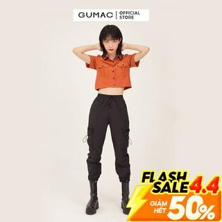 """Quần Jogger nữ phối túi GUMAC phong cách hàn quốc màu đen đủ size QB369 giá chỉ còn <strong class=""""price"""">19.750.000.000đ</strong>"""