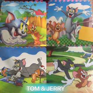 Thảm ghép âu lạc tom and jerry 60×60 x 4 tấm
