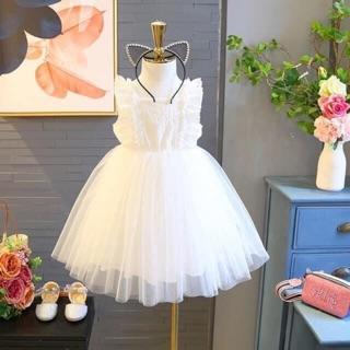 SALE!! Váy công chúa ren trắng bồng bềnh cực xinh