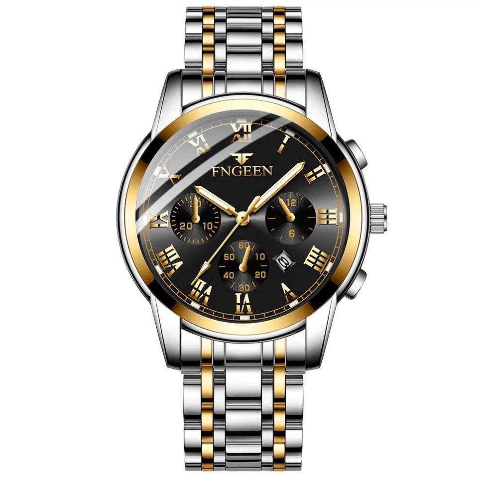 Đồng hồ nam Dotime đeo tay dây thép thời trang cao cấp ZO606