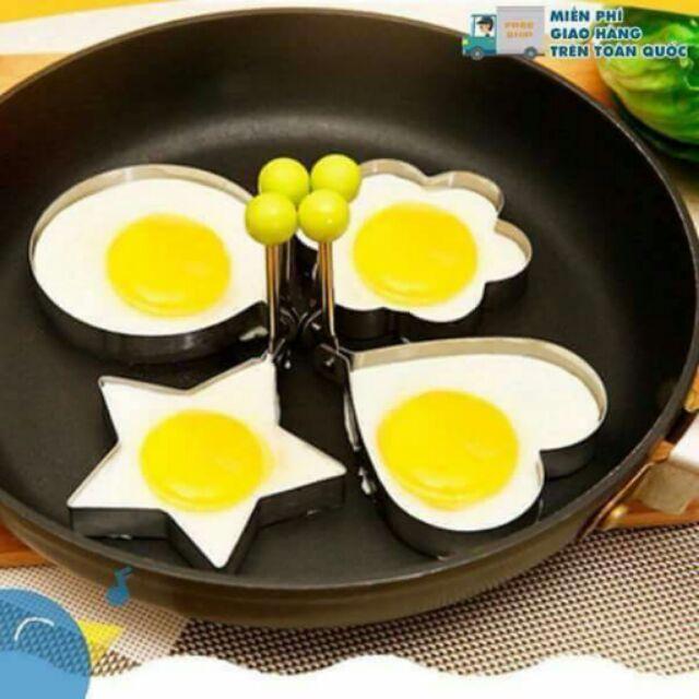 Bộ 4 khuôn ốp trứng, rán bánh