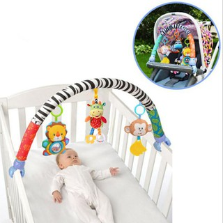 ★Lp★Baby Appease Toy Baby Stroller Hanging Toys Rattles Cute Plush Mobile Gifts
