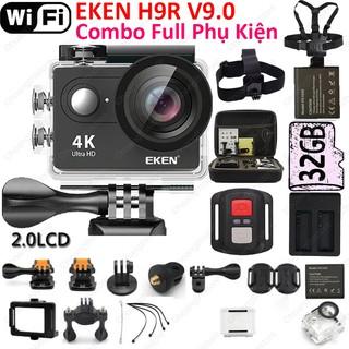 ✔ Camera Eken H9R V9.1 cùng combo phụ kiện Có Wifi, Remote Dùng đi phượt du lịch hành trình động V9 8 7 Hàng Chính Hãng