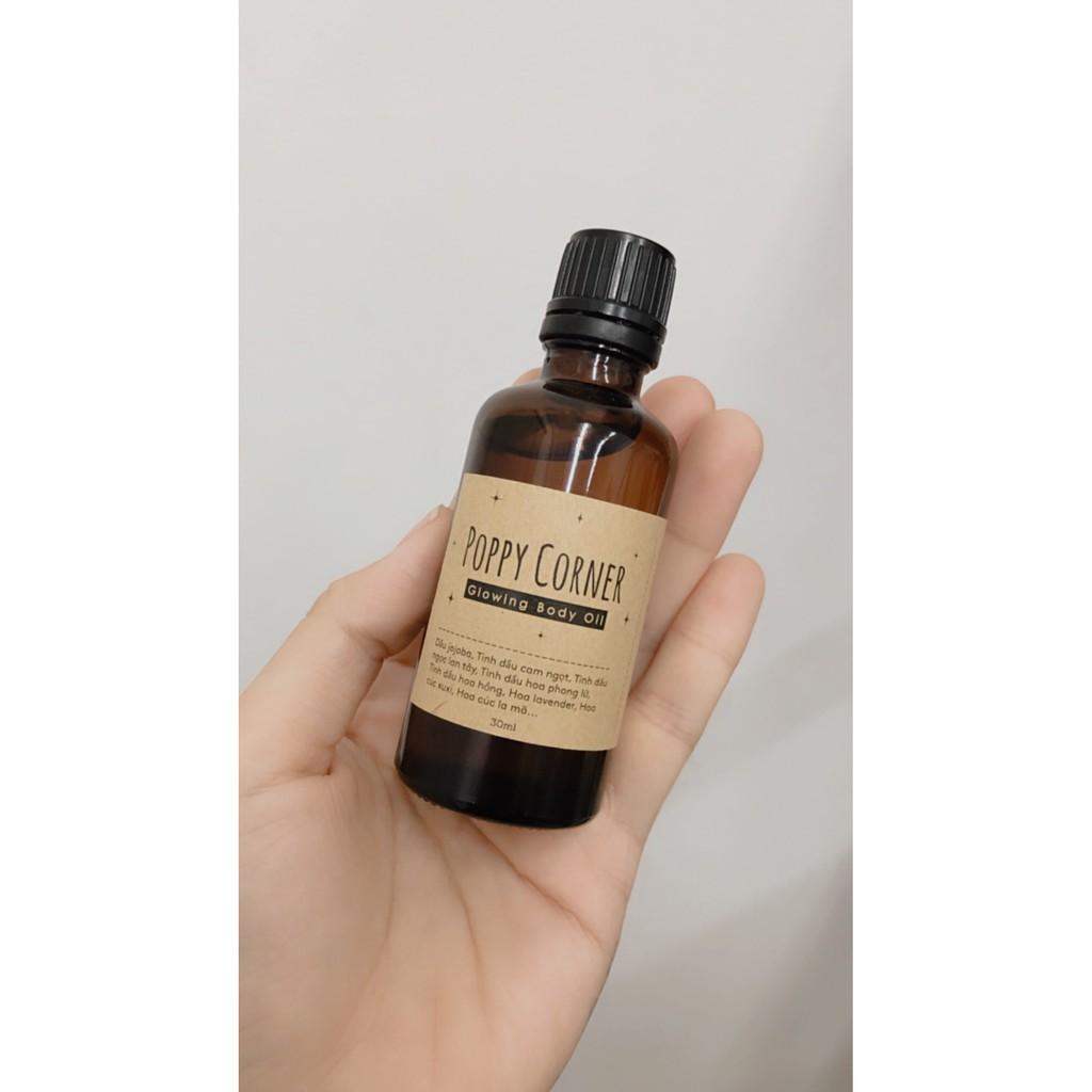 Glowing Body Oil - Giúp Da Mềm Mại, Sáng, Phục Hồi, Giảm Nhăn, Ngừa Lão Hóa, Cấp Ẩm - POPPY CORNER