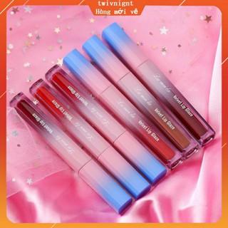 LAMEILA 6 Colors Lip Glaze Velvet Lip Gloss Long Lasting Moisturizing Lip Gloss Dyeing Waterproof Lipstick Lip Gloss