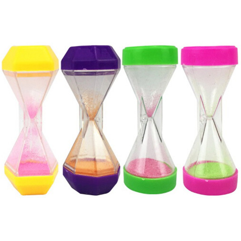 Plastic Hourglass Sand Timer Clock Sandglass Timer Cup Kid Math Learning Toys