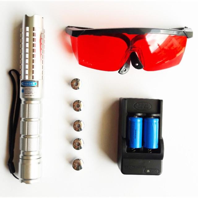 Đèn laser đốt cháy màu xanh dương 2