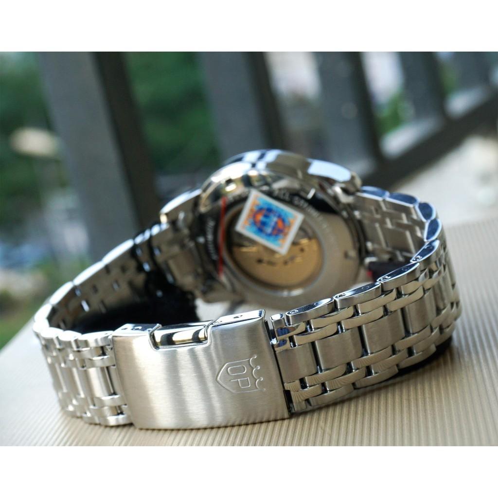 Đồng hồ nam dây kim loại mặt kính chống xước Automatic Olym Pianus OP990-163 OP990-1