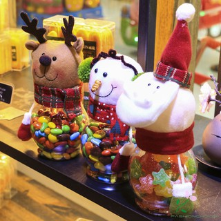 Christmas Candy Jar Santa Claus /Snowman/Elk Christmas Gift Christmas Desktop Window Ornaments Decoration