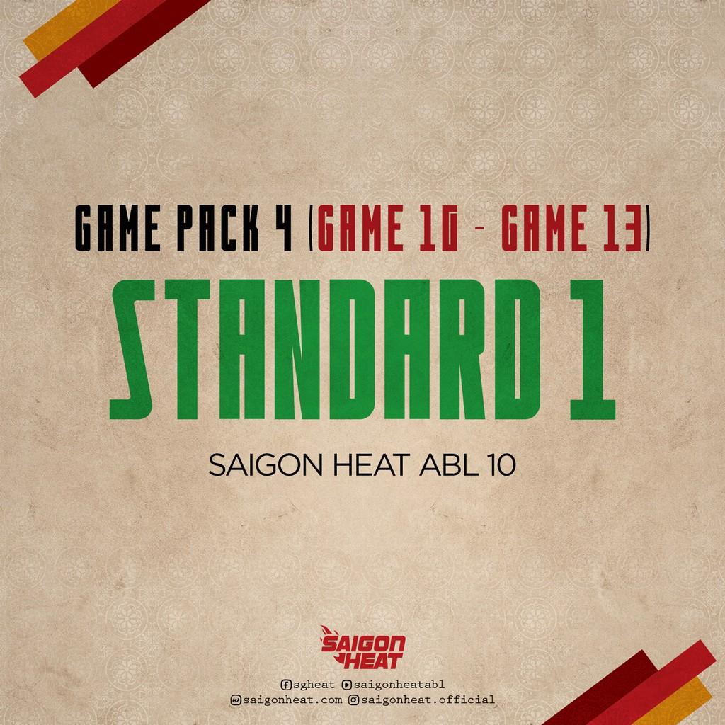 E-Voucher-Vé tham dự giải bóng rổ ABL loại GAME PACK 4 - Hạng STANDARD 1 - Trận đấu 10 - 13 - Hồ Chí Minh