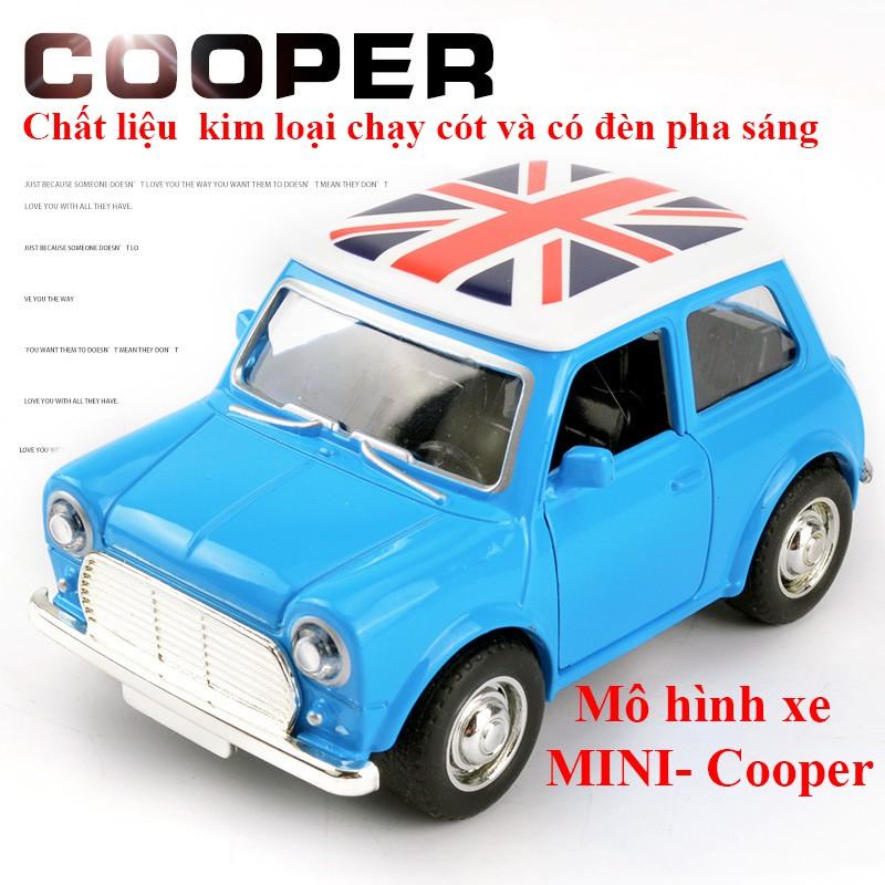 Xe đồ chơi mô hình Mini cooper kim loại có đèn pha sáng, chạy cót, chi tiêt sắc sảo, đẹp, bền bỉ (màu ngẫu nhiên)