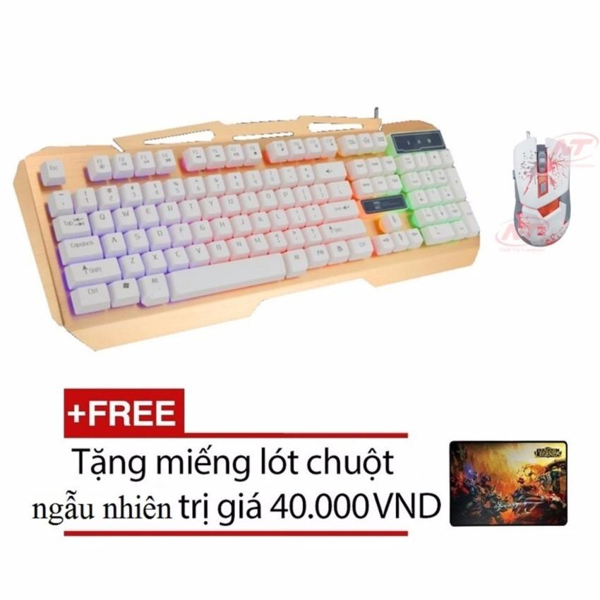 Bộ bàn phím giả cơ và chuột chuyên game R8 1828 - 1630 (Trắng) + Tặng kèm lót chuột - 2575675 , 197720424 , 322_197720424 , 441000 , Bo-ban-phim-gia-co-va-chuot-chuyen-game-R8-1828-1630-Trang-Tang-kem-lot-chuot-322_197720424 , shopee.vn , Bộ bàn phím giả cơ và chuột chuyên game R8 1828 - 1630 (Trắng) + Tặng kèm lót chuột