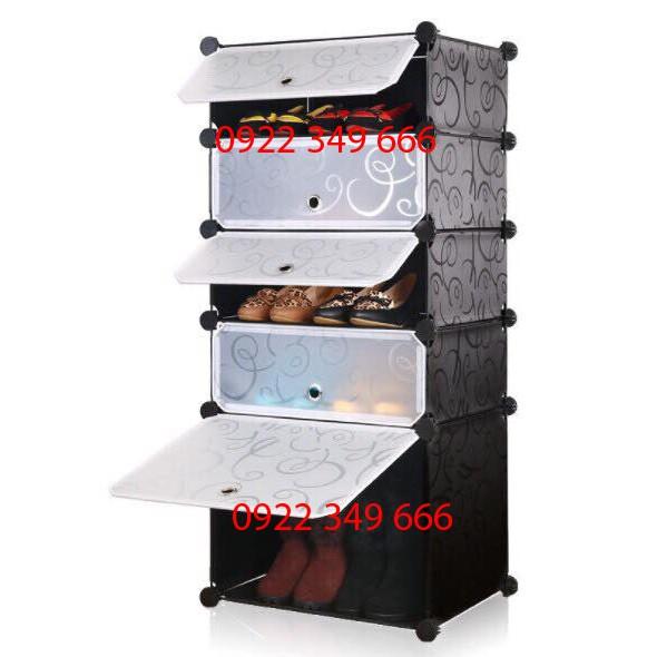 Tủ giày lắp ghép 5 ngăn