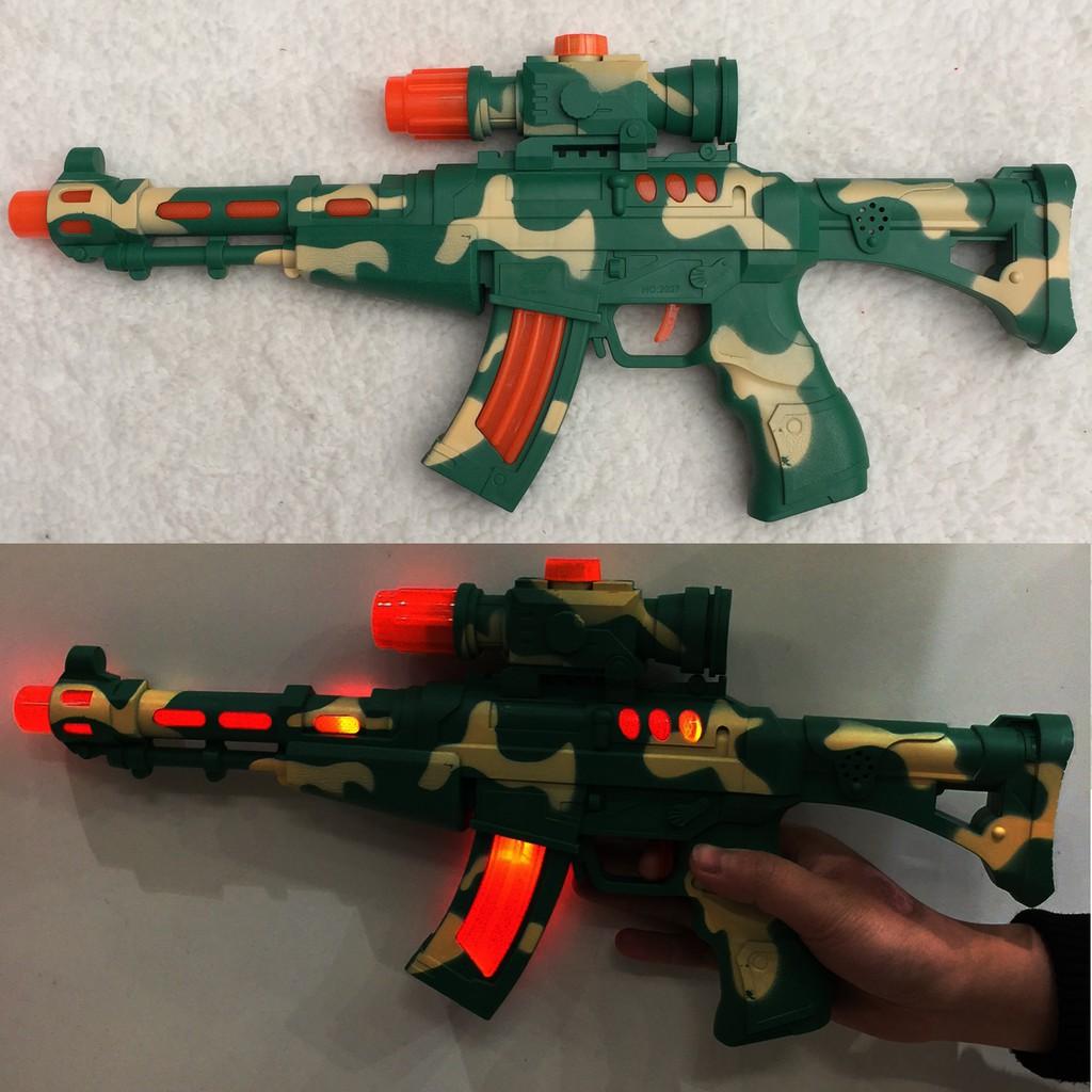 Đồ chơi súng quân sự có nhạc đèn (dài 40cm) - 3296573 , 840453308 , 322_840453308 , 110000 , Do-choi-sung-quan-su-co-nhac-den-dai-40cm-322_840453308 , shopee.vn , Đồ chơi súng quân sự có nhạc đèn (dài 40cm)