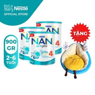 Combo 3 Lon Sữa Bột Nestle NAN Optipro 4 900gr/lon [Tặng 1 Sofa Thiên Thần]