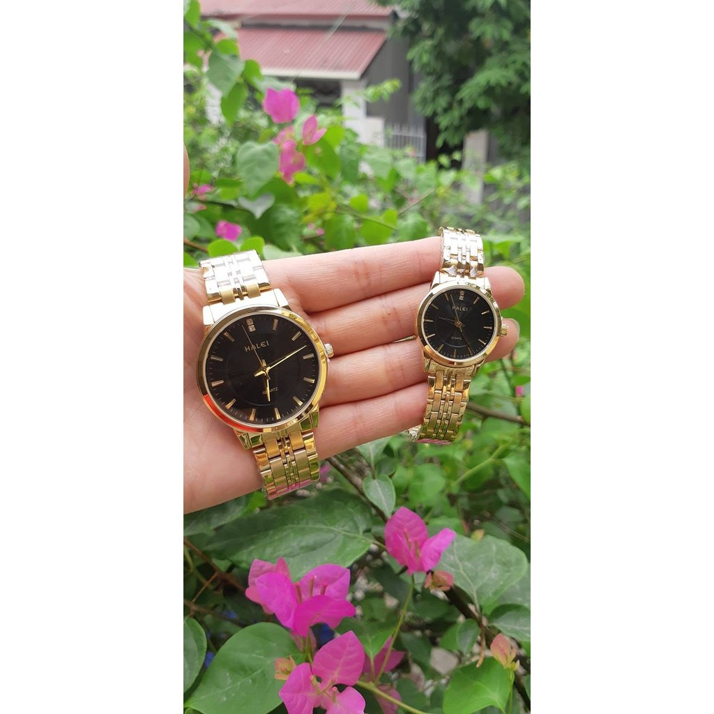 đồng hồ nam halei mặt đen HLD01 chống nước chống xươc,tặng kèm vòng tì hưu