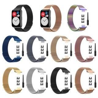 Dây Đeo Thay Thế Chất Liệu Kim Loại Dạng Lưới Thời Trang Cho Huawei Watch thumbnail
