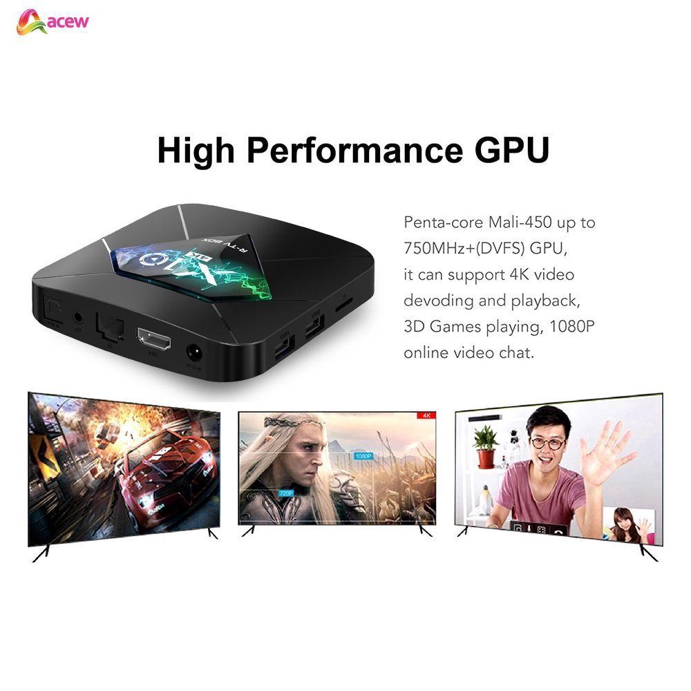 Thiết bị chuyển đổi TV thường thành smart TV 5 S905W Quad Core 2GB + 16GB Android OS WiFi H.265 HDR 3D 4K