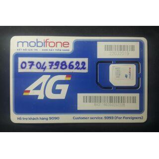SIM Phong Thủy mạng MobiFone 0704798622