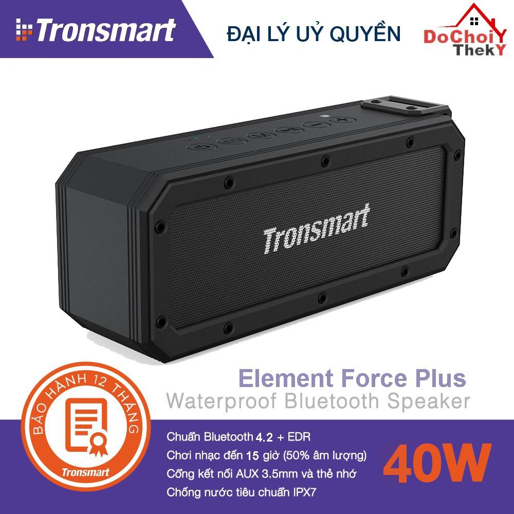[Mã ELMS4 giảm 7% đơn 500K] Loa Tronsmarts Element Force + Loa Bluetooth 40W chống nước IPX7 - BẢO HÀNH 12 THÁNG
