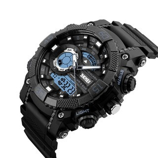Ảnh thật_ Đồng hồ thể thao nam dây nhựa khớp vòng cung 4 màn hình hiện thị kiểu dáng thể thao SKMEI 1228-Gozid.watches