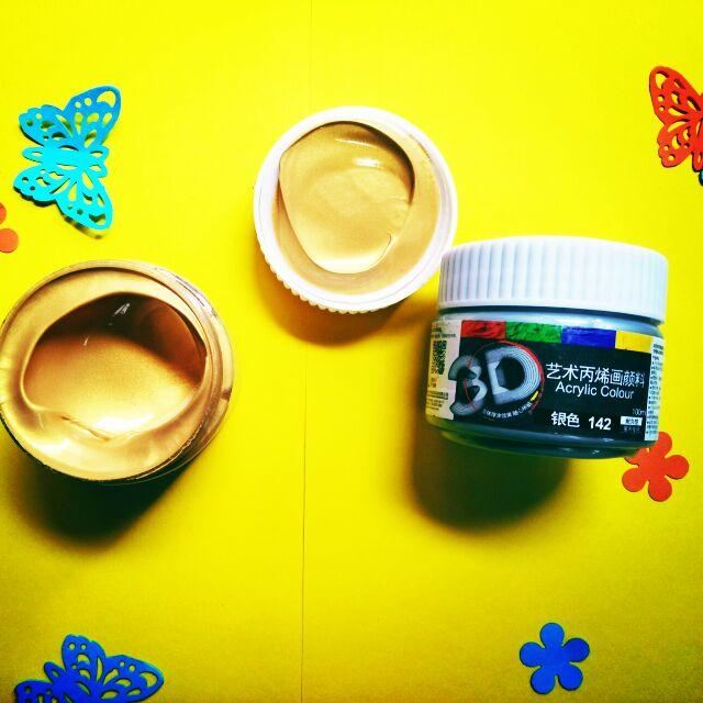 Màu nhũ vẽ vải, vẽ tường, màu Acrylic 3D loại 100ml