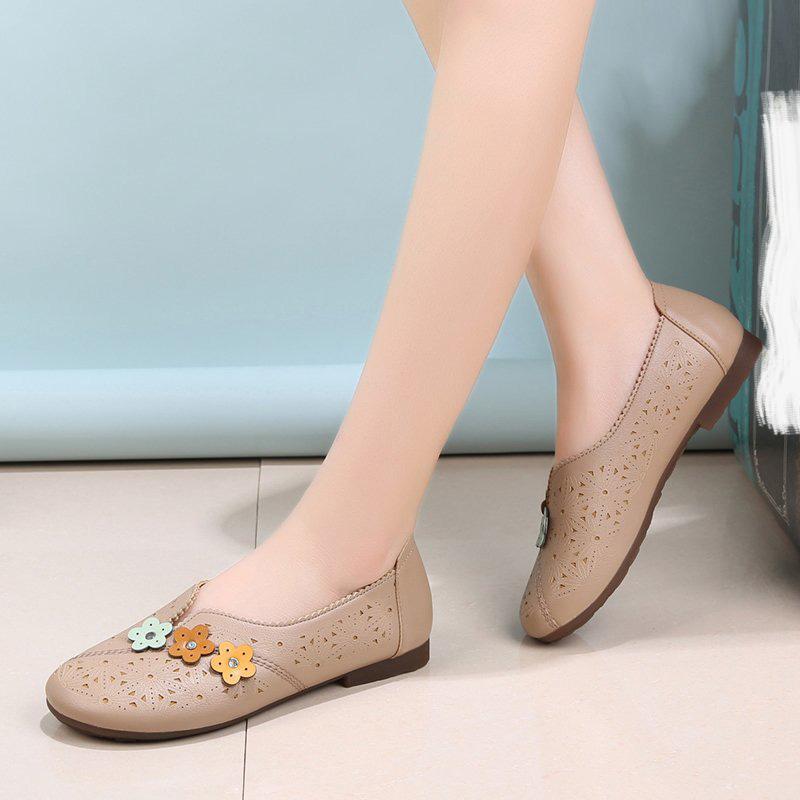 Giày Bệt Nữ, Giày Đế Bằng Nữ Thêu Thoải Mái, Giày Búp Bê