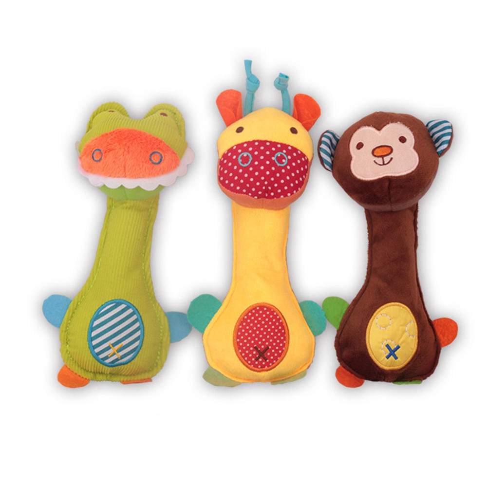 Cod Qipin Creative Baby Animals Rattle Toys Soft Design Bed Bell Infant Hanging Bell Infant Toys