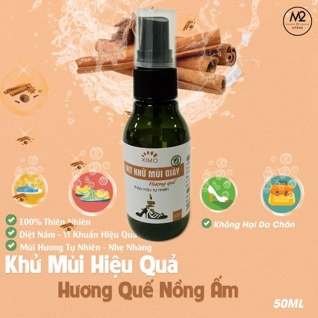 Xịt khử mùi giày Hương Quế Nano Bạc XIMO mùi dịu nhẹ đánh tan mùi hôi chân, giày và mũ bảo hiểm