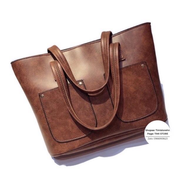 Túi xách to đựng vừa A4, laptop, tài liệu, sách vở đi làm, đi học