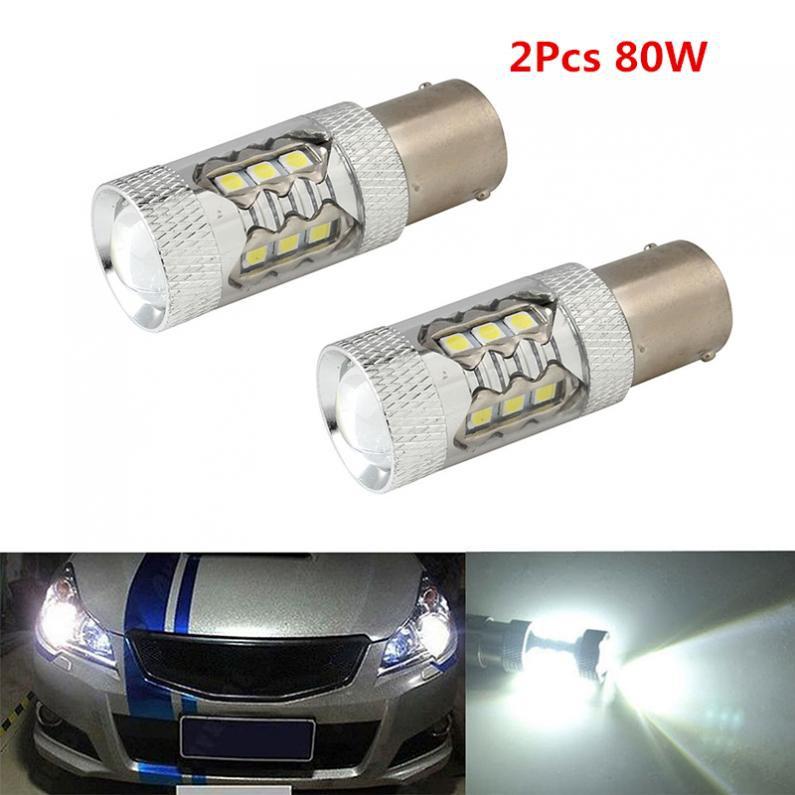 Bộ 2 đèn LED CREE 80W 1156 BA15S cho xe hơi