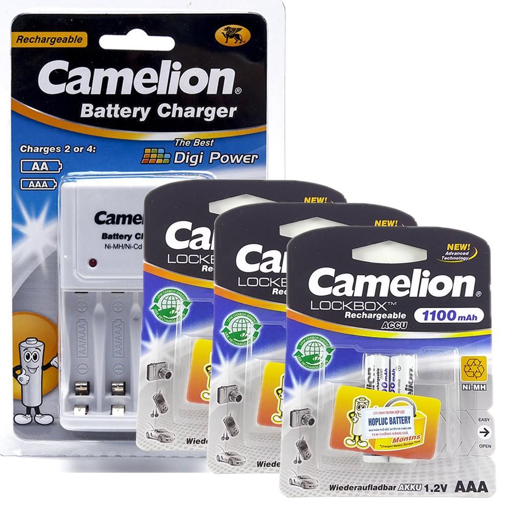 Bộ 1010B kèm 6 pin AAA Camelion 1100mAh