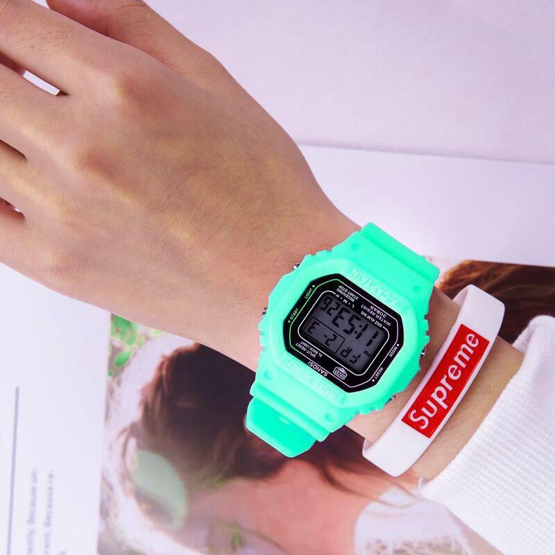 Đồng hồ điện tử nam nữ X - captain màu xanh bạc hà mẫu siêu hot