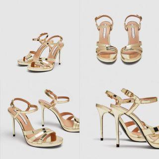 Sandals ZR vàng ánh kim