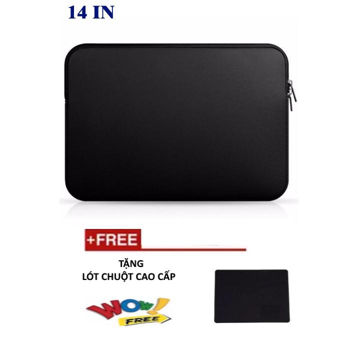 Túi chống sốc cho laptop 14 inch (Đen) + Tặng bàn di chuột chuyên dụng