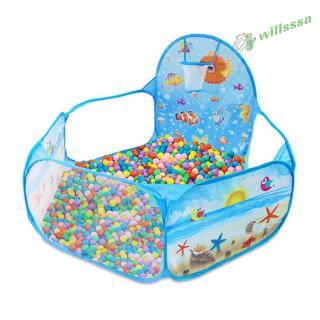 [willss] Foldable Children Game Tent 1.2m Ocean Ball Pool Indoor Cartoon Pattern Environmental Prote