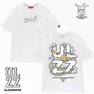 Hình ảnh [Mã WABR2291 giảm 10% đơn 99k] Áo thun local brand ULZZ ulzzang cloud astronaut dáng unisex tay lỡ - white fullbox-0