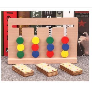 Giáo Cụ Montessori – Four color game – Đồ Chơi Rèn Luyện Trí Tuệ Phát Triển Tư Duy Logic