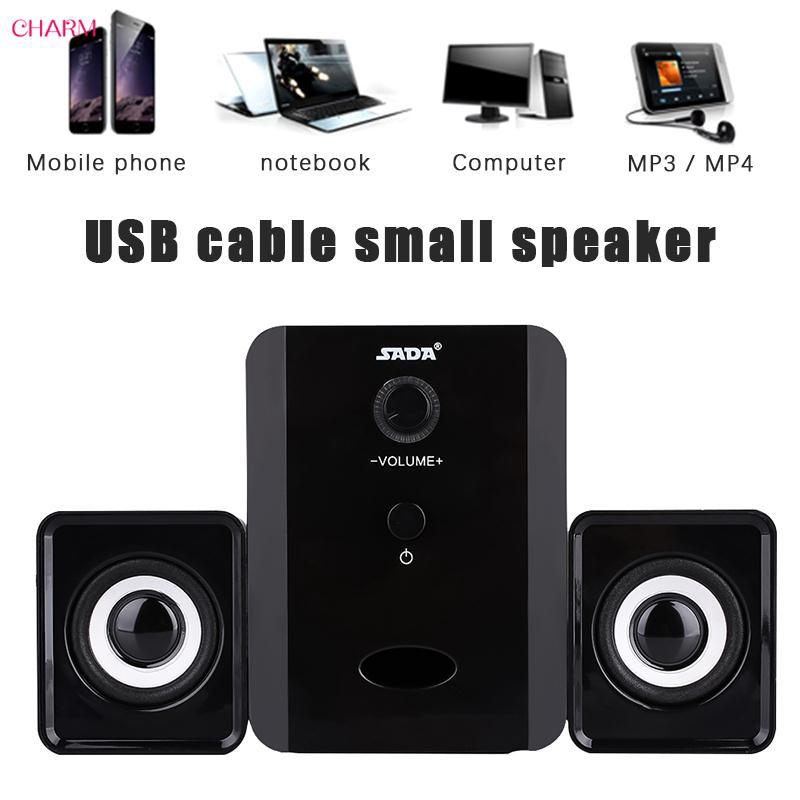 ☆ Mini Combination Speaker Audio Music Player Subwoofer Stereo SADA D-201