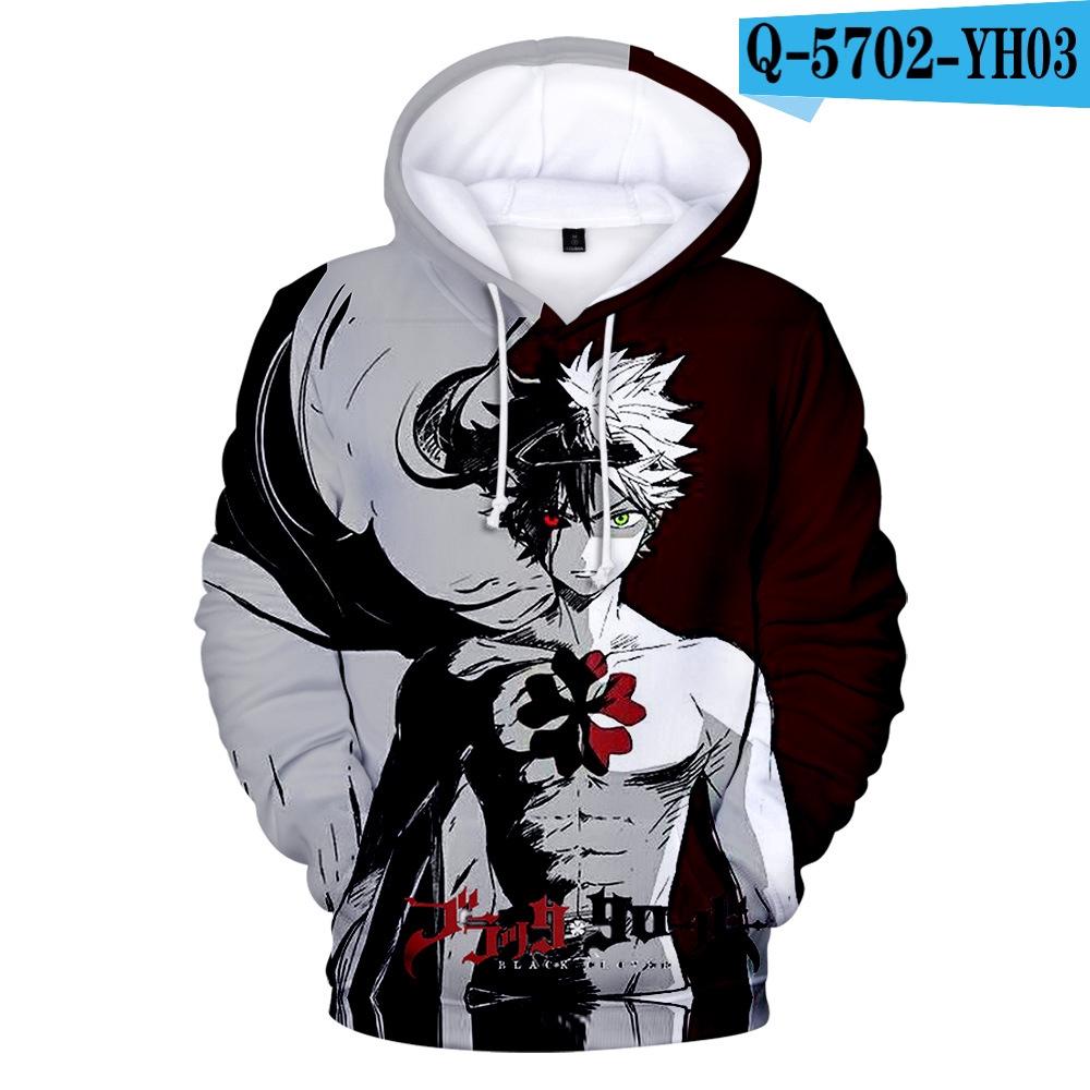 Anime Black Clover Unisex Hoodies Long Sleeve Sweater Sweatshirts Casual Coat